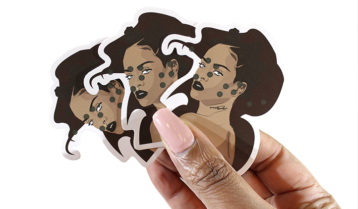 Cool Artist Collaboration Stickers