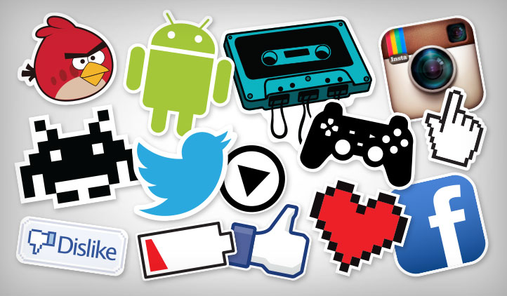 Video game tech stickers
