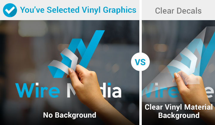 Window graphics vinyl graphics clear decals comparison