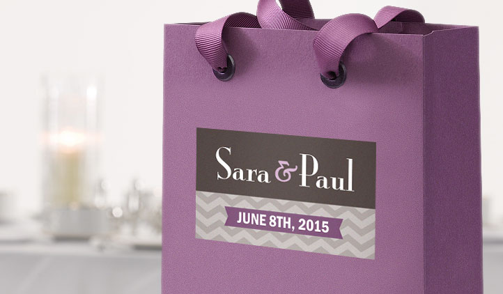 Wedding favor labels gift bag labels