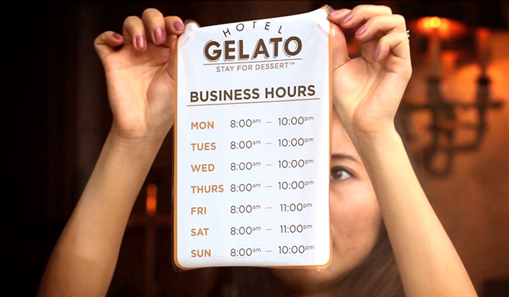 Hours Stickers StickerYou Products - Window stickers for business hours