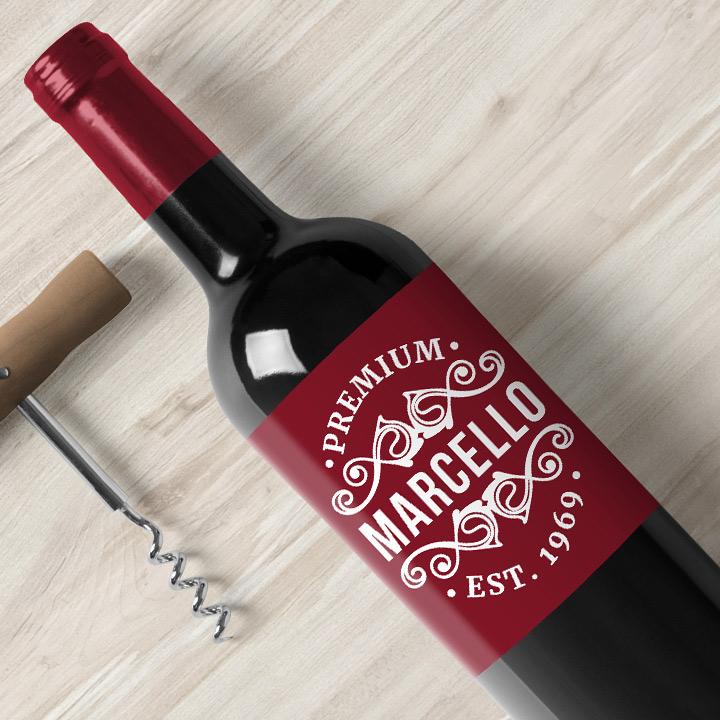 Custom wine label Wedding Bottle Label Wedding wine label Thank you wine label- Personalized Label Wine label Birthday Wine Label