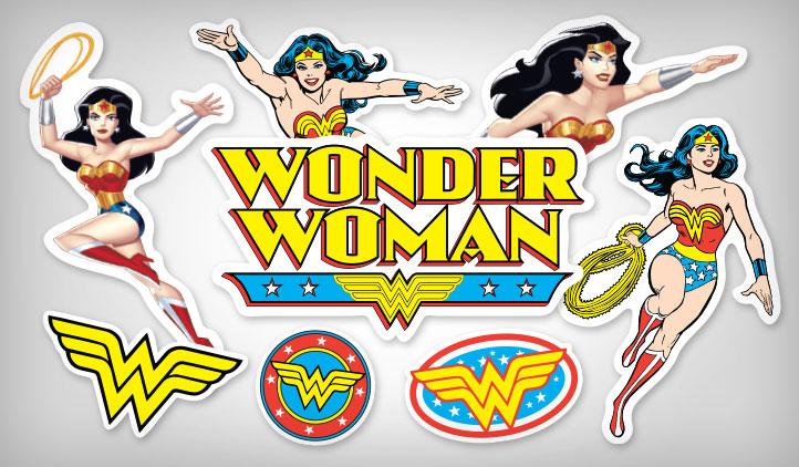 Wonder Woman Stickers Stickeryou Products