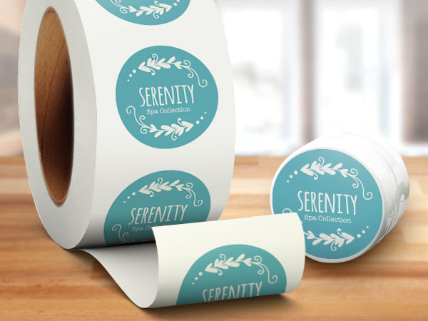 Custom cosmetic company roll labels