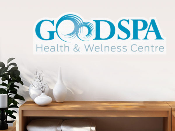 Spa logo decal on a wall