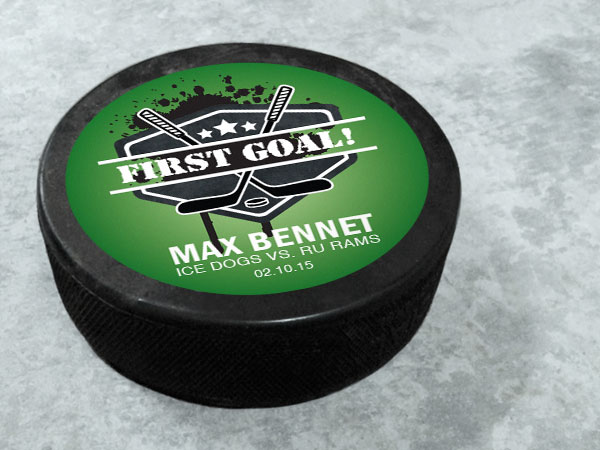 Hockey Puck Stickers