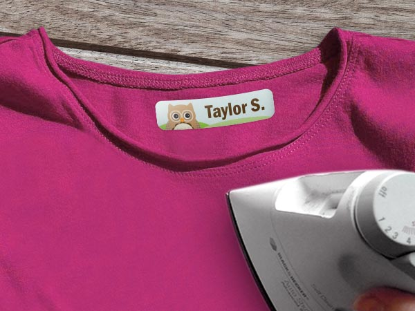 Kids Iron On Labels