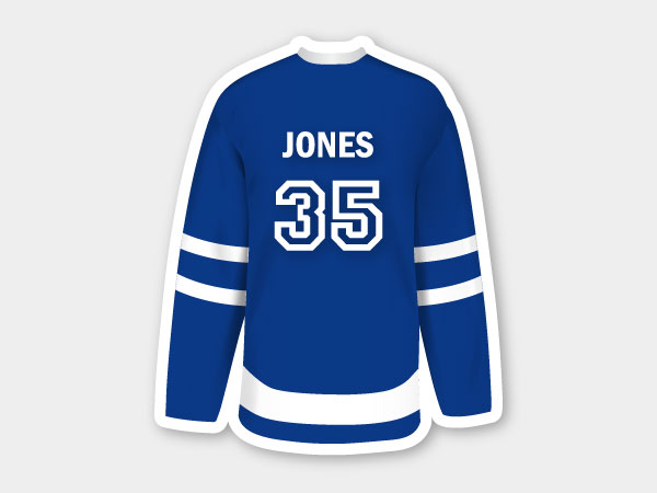 Hockey Jersey Stickers