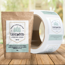 Eco-Safe Paper Roll Labels