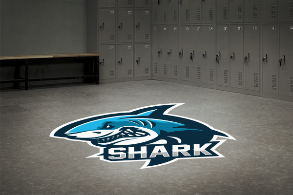 Sports team floor decal