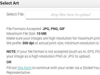 Upload JPG, PNG and GIF